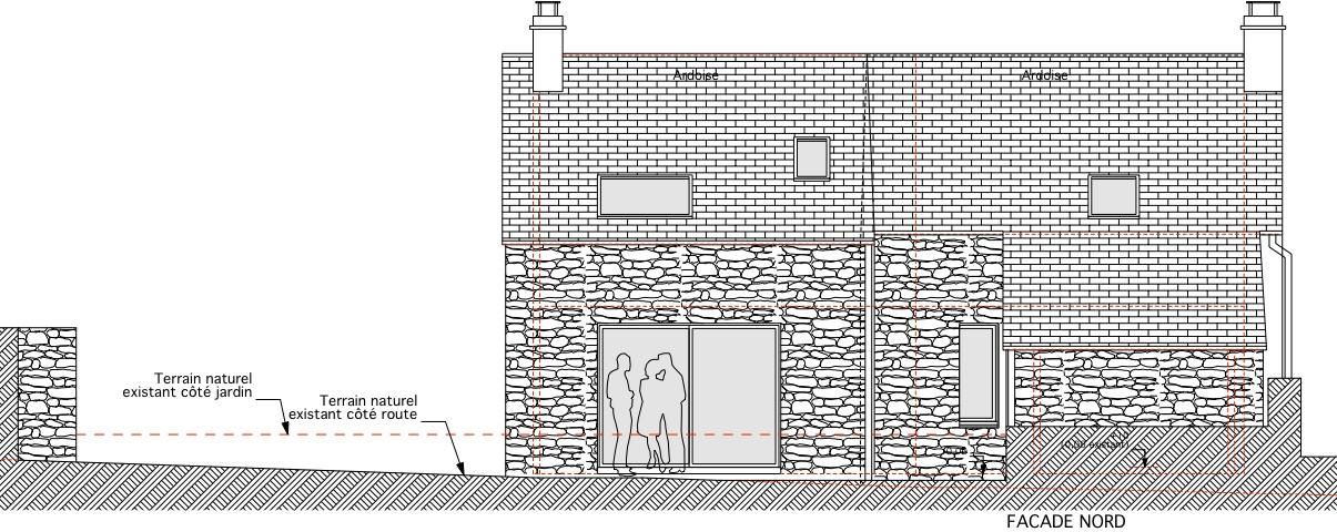 Maisonlefilliatre - Plan en coupe terrain et construction ...